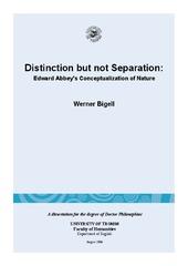 Distinction but not Separation: