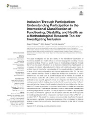 Pdf functioning and international of health classification disability