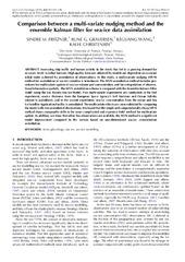 Munin: Comparison between a multi-variate nudging method and