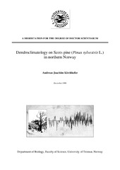 Dendroclimatology on Scots pine (Pinus sylvestris L ) in