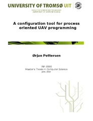 A configuration tool for process oriented UAV programming