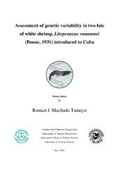 Munin: Assessment of genetic variability in two lots of white shrimp
