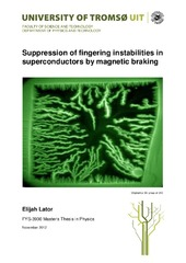 Suppression of fingering instabilities in superconductors by magnetic