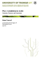 Place Assimilation in Arabic