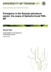 Foreigners in the Russian petroleum sector: the cases of