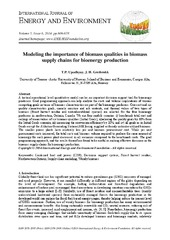 Munin: Modeling the importance of biomass qualities in
