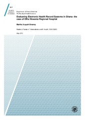 Evaluating Electronic Health Record Systems in Ghana: the case of
